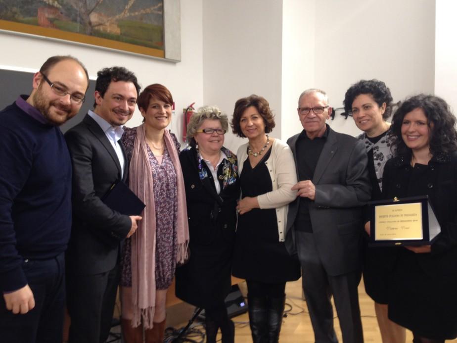 Gruppo dei vincitori pugliesi - Premio Italiano di Pedagogia 2014