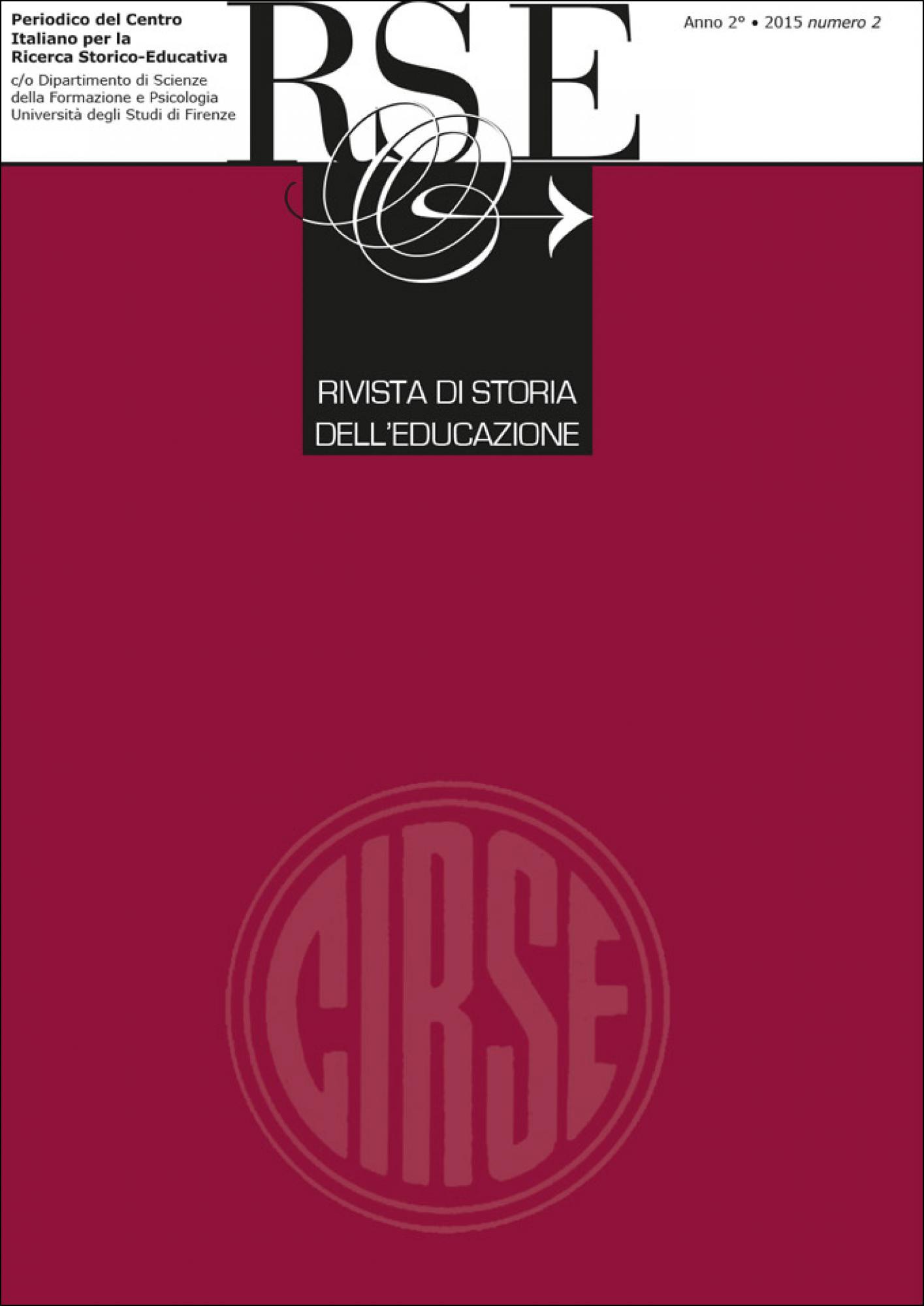 """Call for paper per la """"Rivista di Storia dell'Educazione"""""""