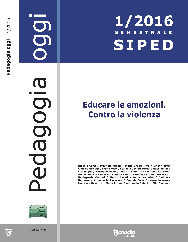 Pedagogia Oggi, numero 1/2016