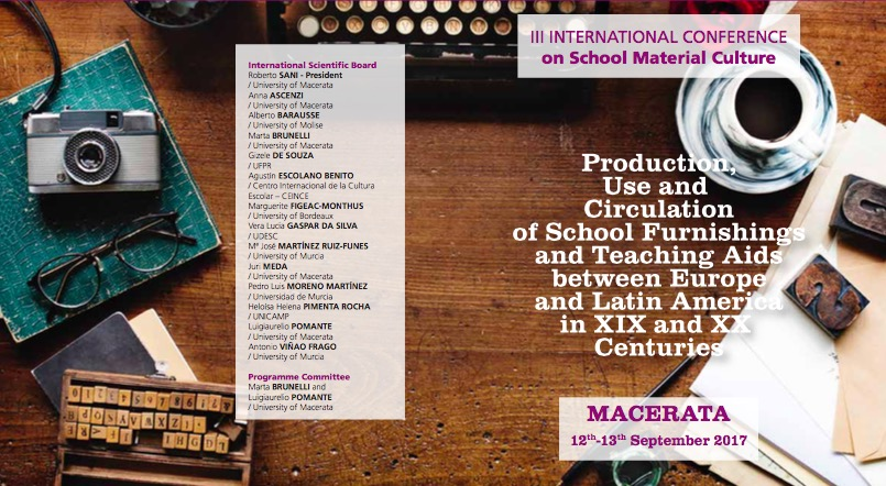 III INTERNATIONAL CONFERENCE on School Material Culture, 12-13 Settembre – Macerata