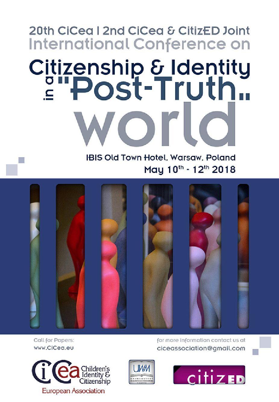 """Convegno """"Citizenship & Identity in a 'Post-Truth' World"""" – 10-12 maggio, Varsavia (Polonia)"""