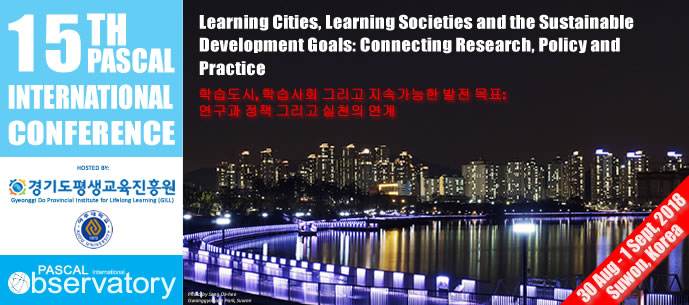 "Call for paper, International Conference ""Learning Cities, Learning Societies and the Sustainable Development Goals: Connecting Research, Policy and Practice"" – 30 agosto-1 settembre, Suwon City (Repubblica di Korea)"