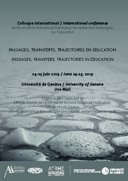 "Call for papers del convegno ""Passages, Transferts, Trajectoires en Éducation"" – ""Passages, Transfers, Trajectories in Education"""