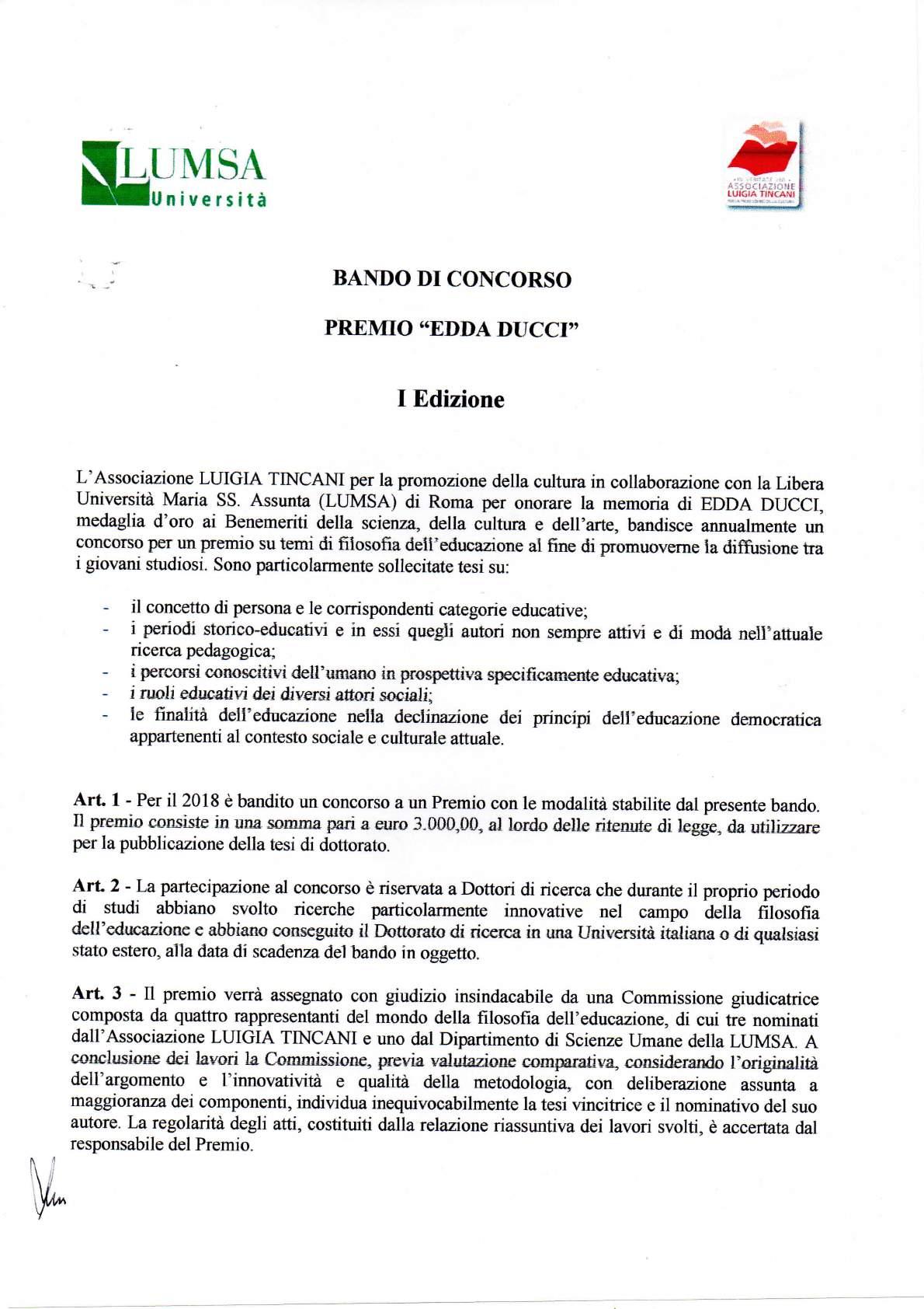 """Premio """"Edda Ducci"""""""
