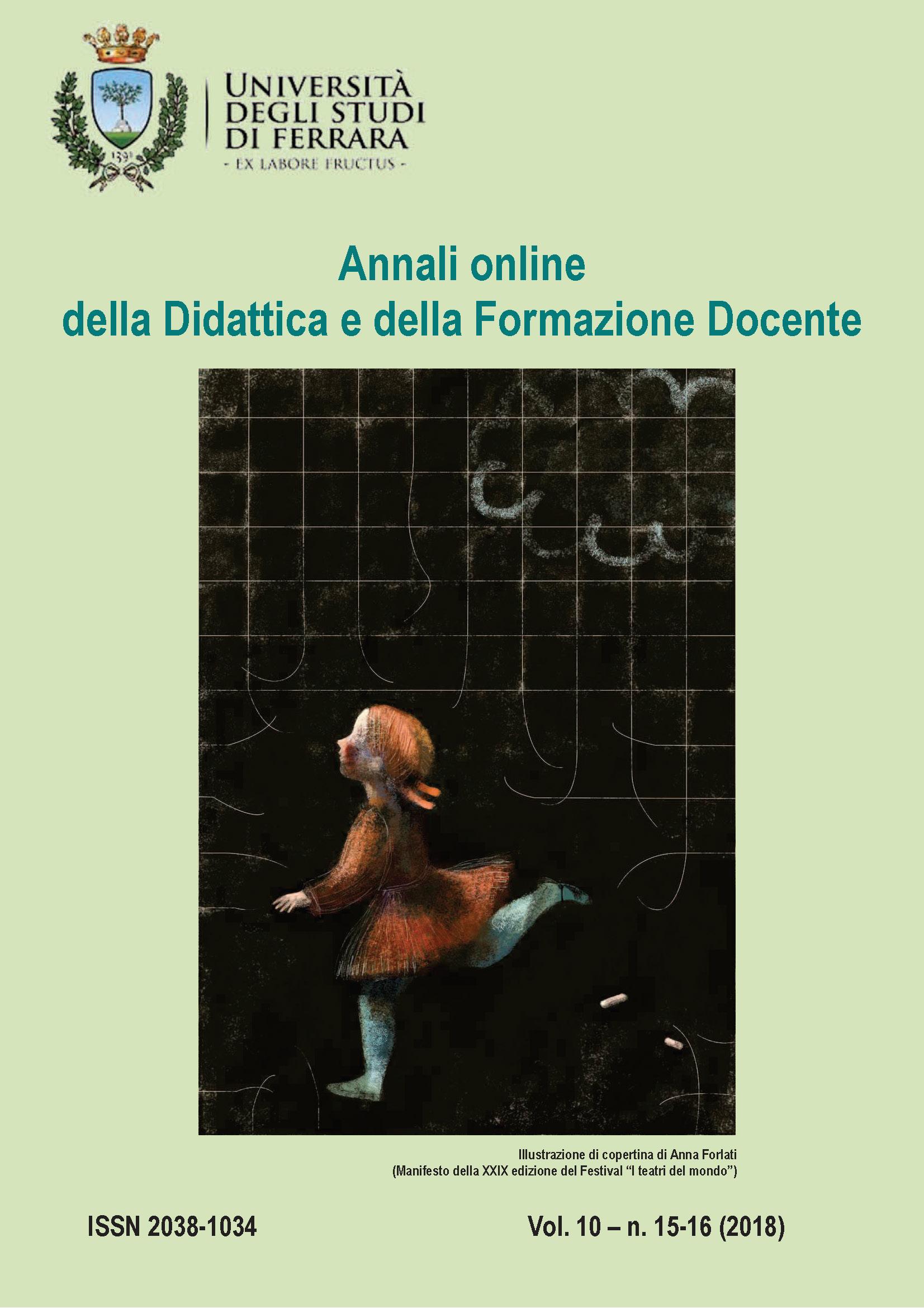 """Pubblicazione Rivista """"Annali online della Didattica e della Formazione Docente"""""""