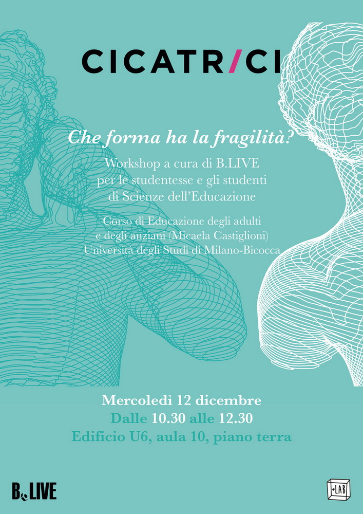 """Seminario/Workshop """"Cicatrici. Che forma ha la fragilità?"""" – 12 dicembre, Milano"""