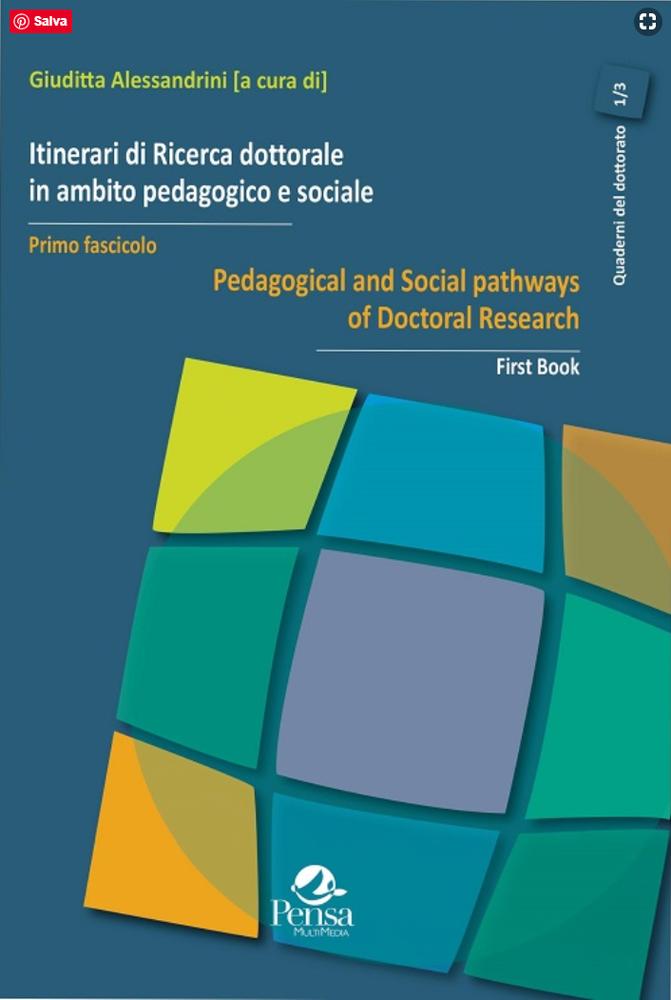 """Pubblicazione primo fascicolo """"Itinerari di Ricerca dottorale in ambito pedagogico e sociale"""""""