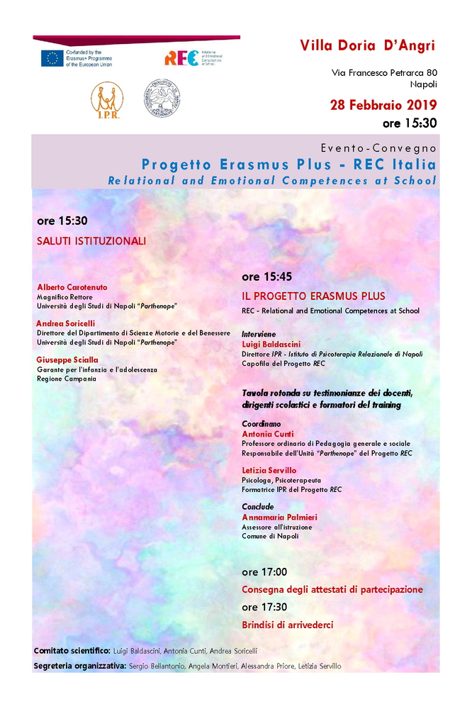 """Convegno """"Relational and emotional competences at school"""" – 28 febbraio, Napoli"""