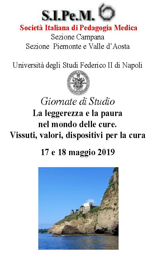 """Giornata di studio """"La leggerezza e la paura nel mondo delle cure. Vissuti, valori, dispositivi per la cura"""" – 17-18 maggio, Procida (Napoli)"""