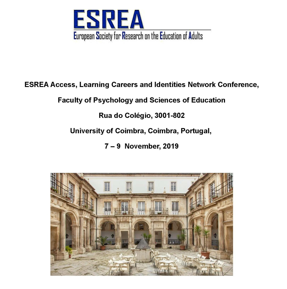"Convegno internazionale ""Adult education as a resource for resistance and transformation. Voices, learning experiences and identities of student and adult educators"" – 7-9 novembre, Coimbra (Portogallo)"