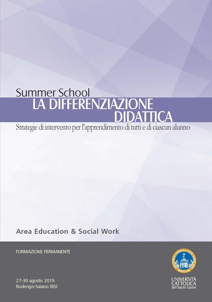 """Summer School """"La differenziazione didattica. Strategie di intervento per l'apprendimento di tutti e di ciascun alunno"""" – 27-30 agosto, Rodengo-Saiano (Brescia)"""