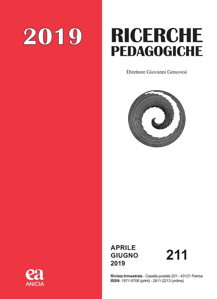 """Pubblicazione rivista """"Ricerche Pedagogiche"""""""