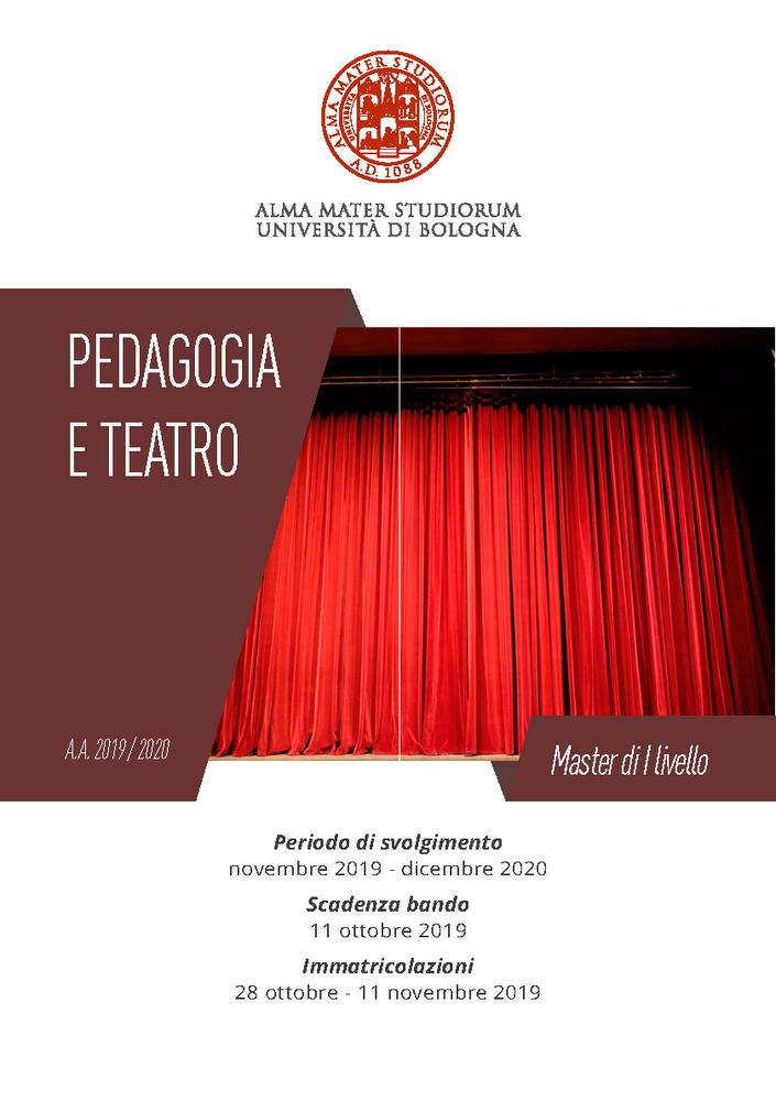 """Master in """"Pedagogia e Teatro"""""""