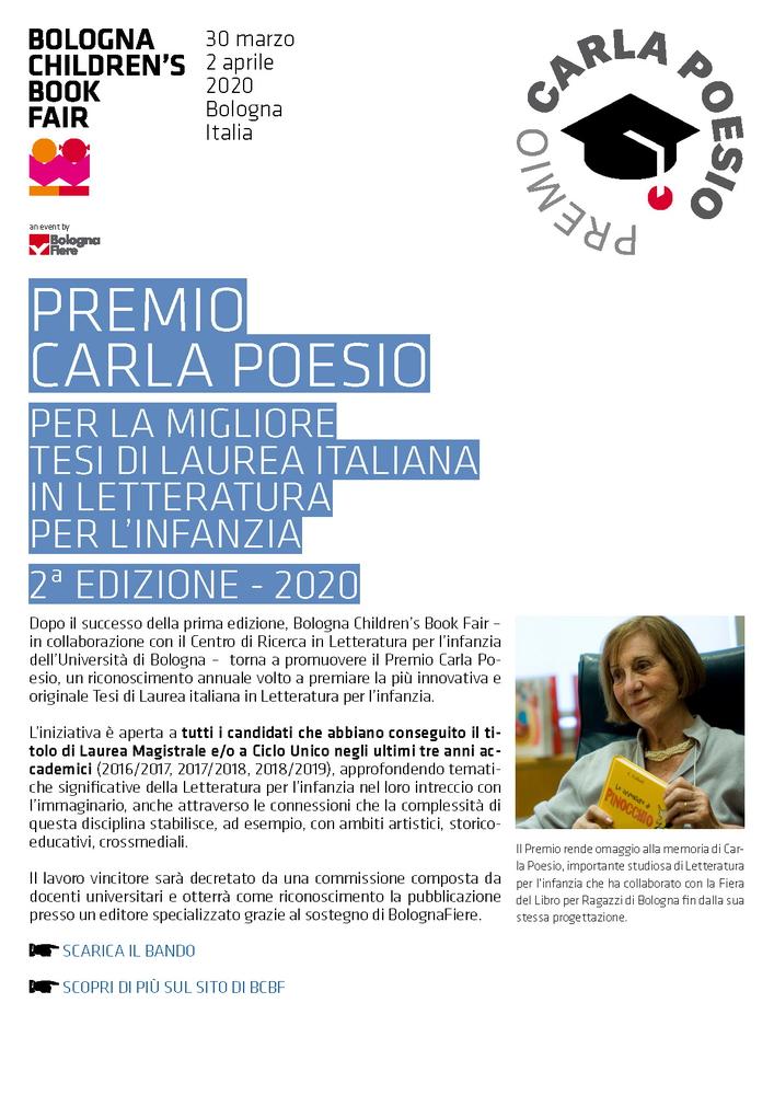 """Premio """"Carla Poesio"""" per la migliore tesi di laurea in Letteratura per l'infanzia"""