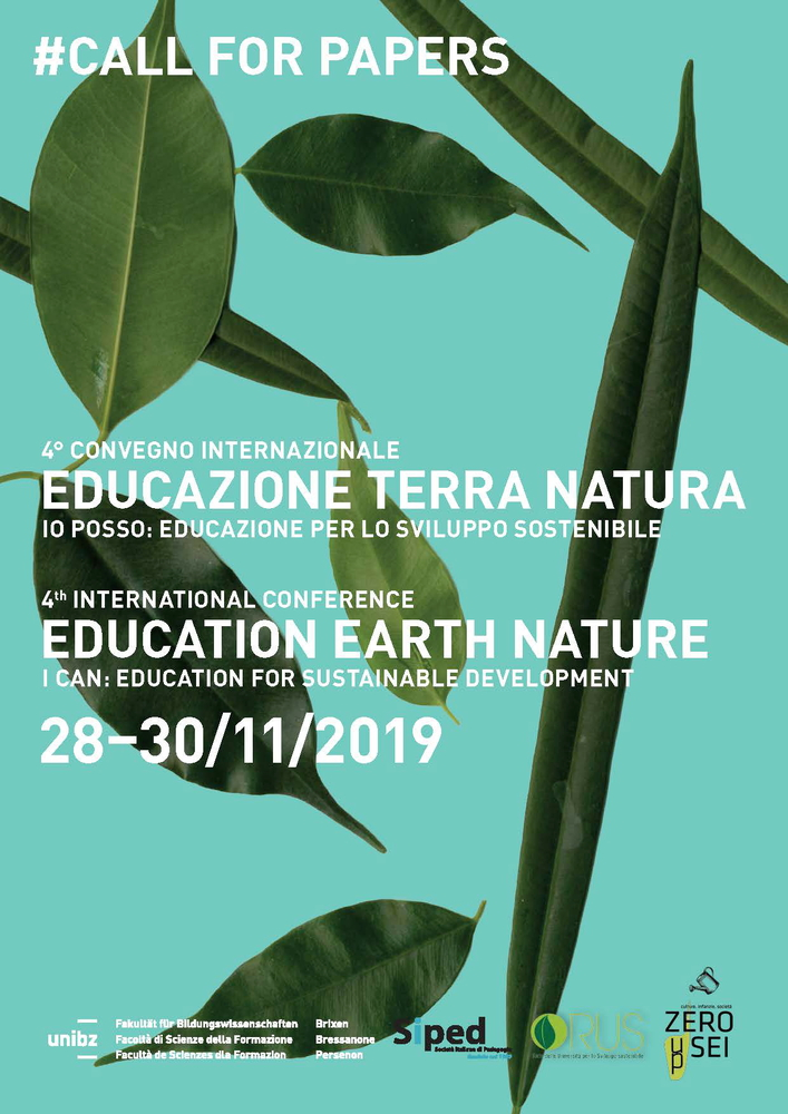 """4° Convegno Internazionale """"Educazione Terra Natura – Io posso: Educazione per lo sviluppo sostenibile"""" – 28-30 novembre, Bressanone (Bolzano)"""