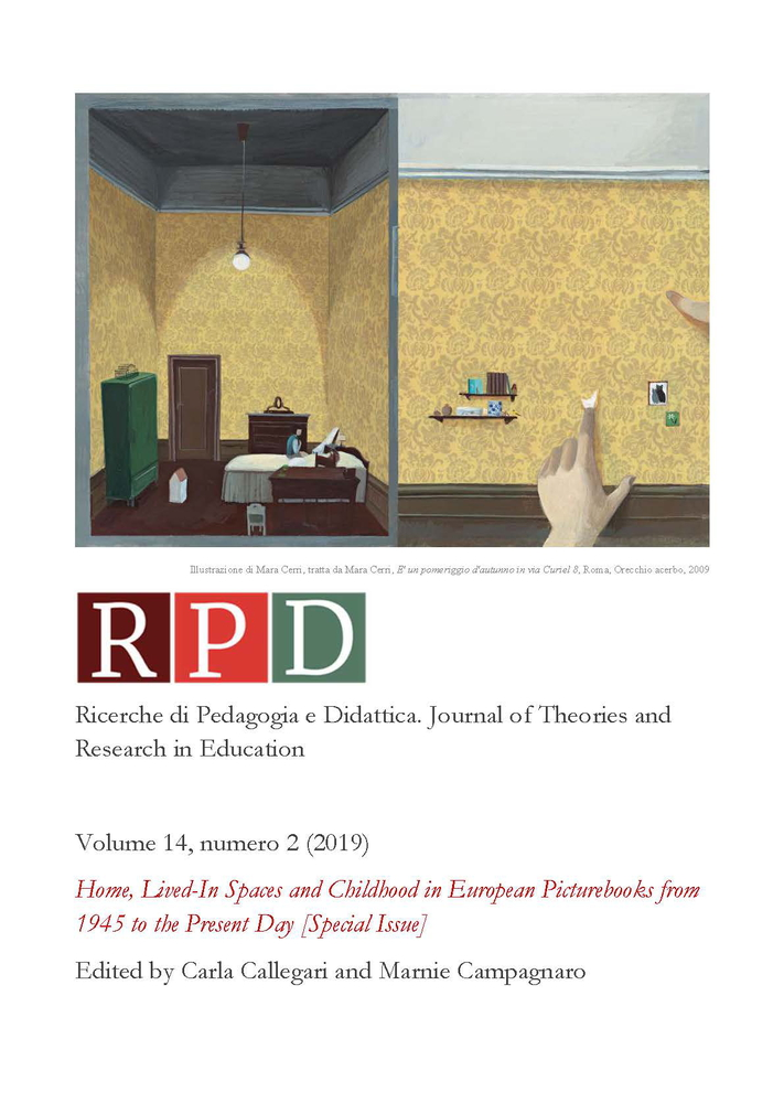 "Presentazione special issue ""Home, Lived-In Spaces and Childhood in European Picturebooks from 1945 to the Present Day"""