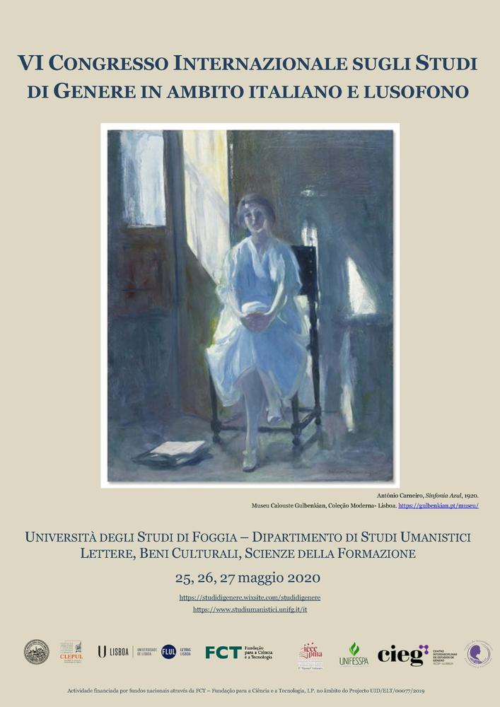 Convegno internazionale sugli studi di genere in ambito italiano e lusofono – 25-27 maggio 2020, Foggia