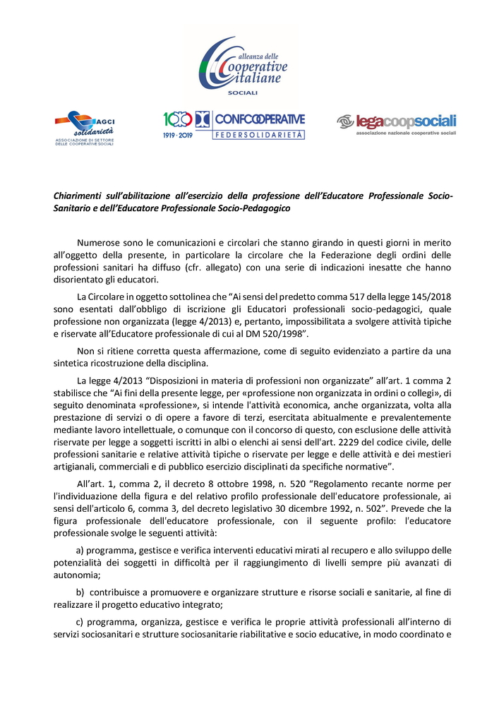 2019-12-11 – Educatori socio sanitari e socio-educativi