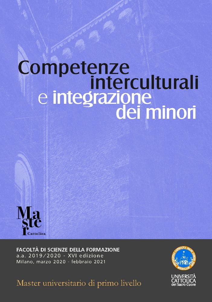"""Master di I livello """"Competenze interculturali e integrazione dei minori"""" – marzo, Milano"""