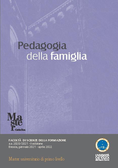 """Master I° Livello """"Pedagogia della Famiglia"""" – gennaio 2021 – aprile 2022, Brescia"""