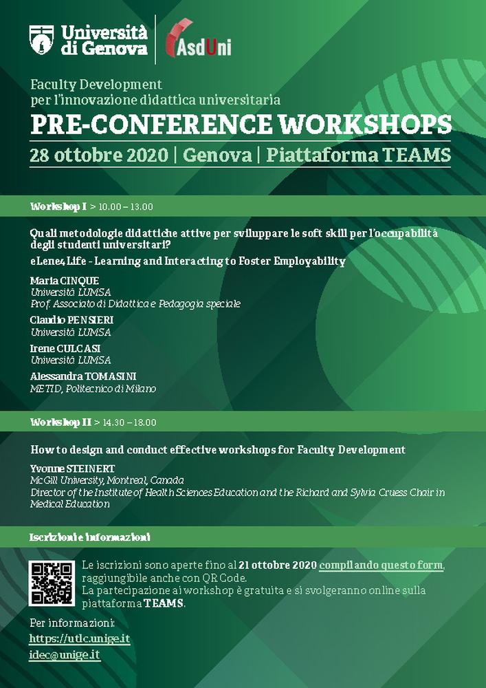 """Convegno nazionale """"Faculty development per l'innovazione didattica universitaria"""" – 29 e 30 ottobre"""