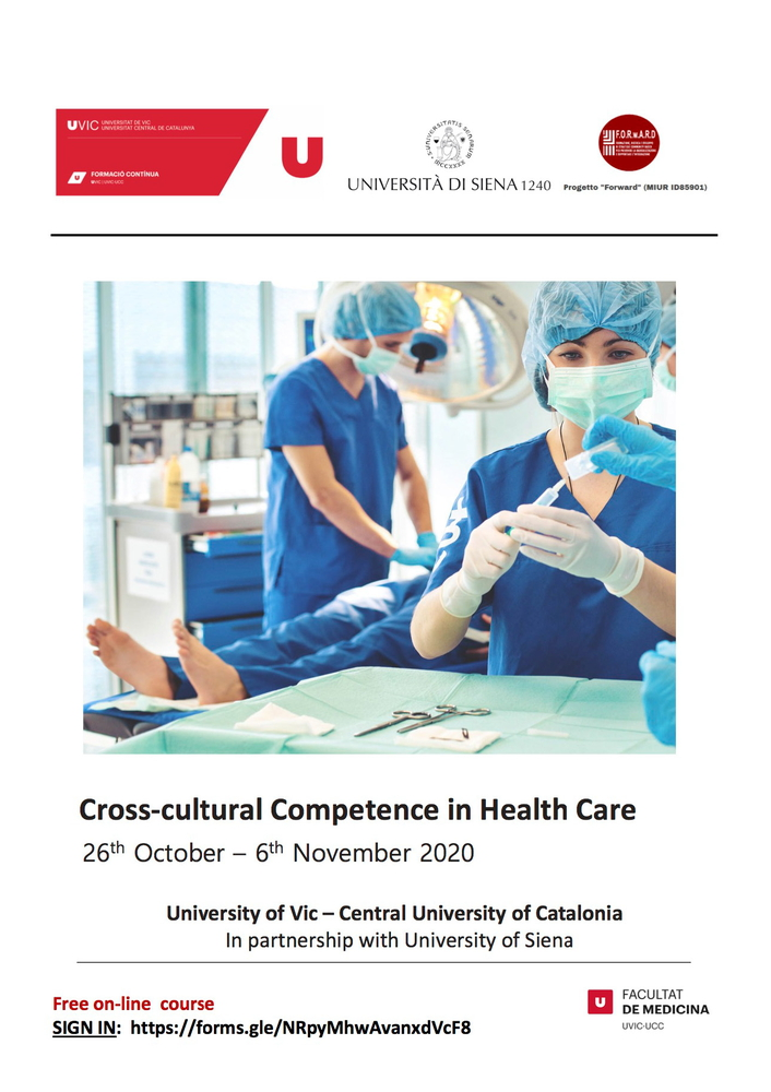 """Corso di formazione online """"Cross-cultural Competence in Health Care"""" – 26 ottobre – 6 novembre"""