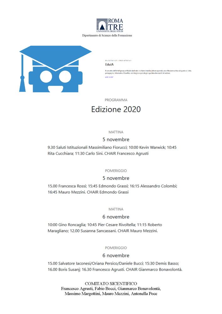 """Convegno """"Educazione Intelligenza Artificiale"""" - 5–6 novembre - Locandina"""