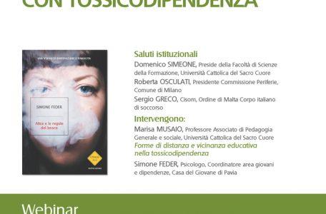 """Webinar """"Sguardi educativi e persone con tossicodipendenza"""" - 10 novembre - Locandina"""