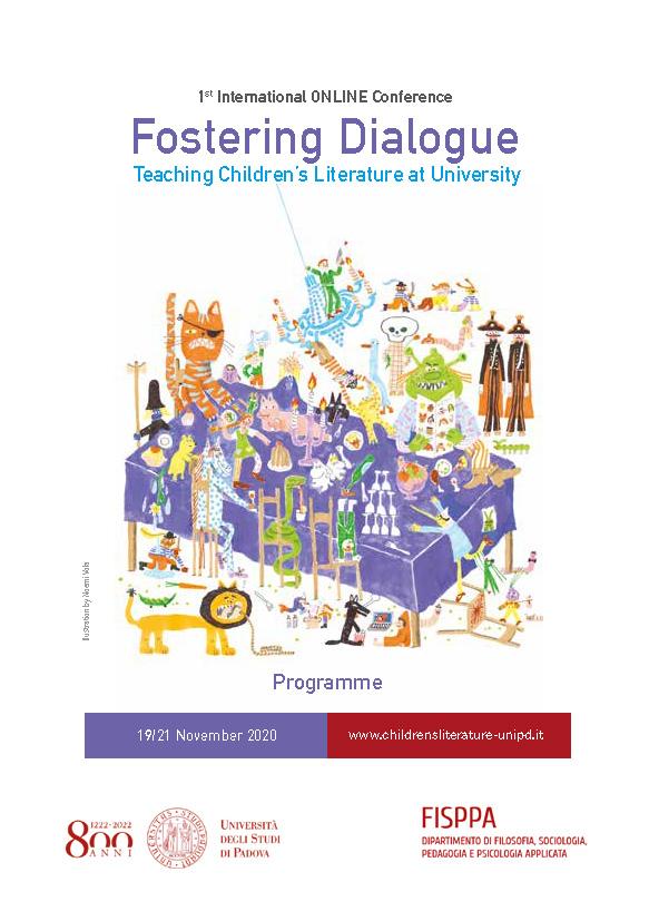 """Conferenza internazionale """"Fostering dialogue. Teaching children's literature at university"""" - 19-21 novembre - Locandina"""