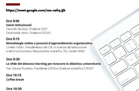 "Webinar ""Mind the gap! Luci ed ombre del distance learning"" - 26 novembre - Locandina"