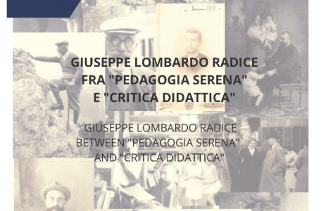"""Numero monografico della rivista """"Formazione, persona, lavoro"""" sul tema """"Giuseppe Lombardo Radice fra 'Pedagogia serena' e 'Critica didattica'"""" - Copertina"""