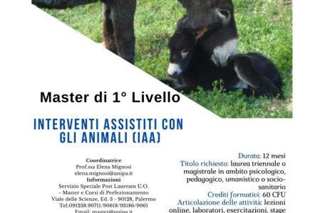 """Master di primo livello """"Interventi Assistiti con Animali (IAA)"""" - Locandina"""