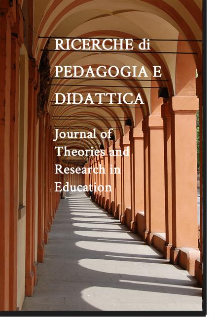 """Uscita nuovo numero rivista """"RPD - Ricerche di Pedagogia e Didattica"""" - Copertina"""