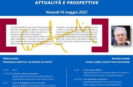 """Seminario """"Ricordando Cesare Scurati. Attualità e prospettive"""" - 14 maggio - Locandina"""