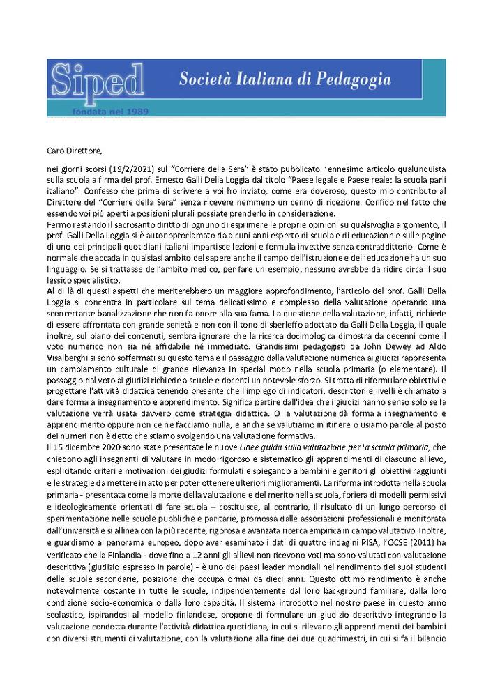 2021-02-28 – Risposta del Prof. Fiorucci all'articolo di Galli Della Loggia sul Corriere