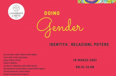 """Convegno Internazionale """"Doing gender. Identità, relazioni, potere"""" - 10 marzo - Locandina"""