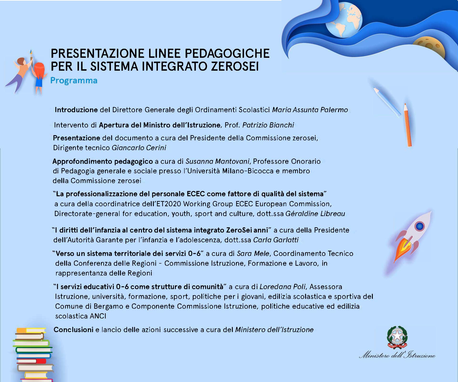 2021-03-30 – Evento di lancio nazionale delle Linee pedagogiche 0-6 e della campagna di consultazione pubblica