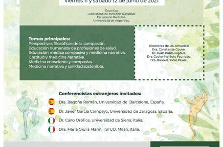 """Call del Congresso """"Quinta Jornada de Medicina Narrativa y Segunda de Humanismo en Salud. Hacia el cultivo de la compasión"""" - 11-12 giugno - Locandina"""
