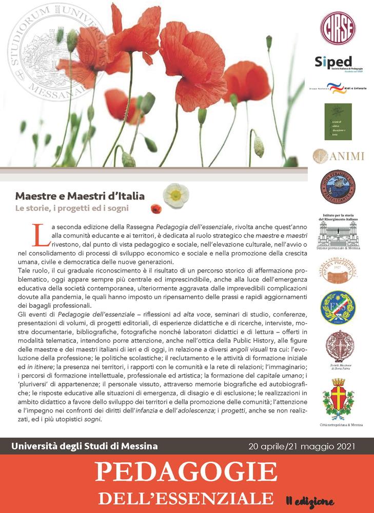 """Rassegna """"Pedagogie dell'essenziale"""" - Brochure"""