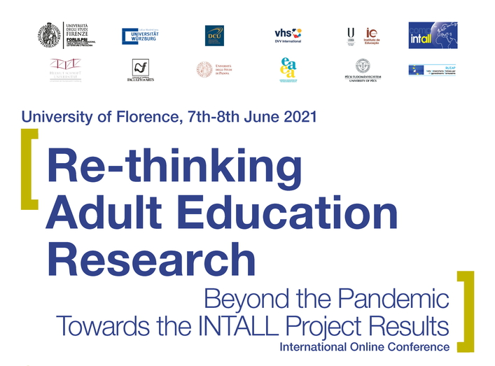 "Conferenza Internazionale ""Re-thinking adult education research beyond the pandemic. Towards the INTALL project results"" – 7-8 giugno"