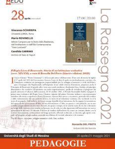 """Presentazione volume """"Il Regio Liceo di Benevento. Storia di un'istituzione scolastica (secc. XIX-XXI)"""" - 28 aprile"""