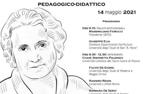 """Convegno """"Maria Montessori tra eredità e attualità. Un approccio storico-epistemologico e pedagogico-didattico"""" - 14 maggio - Locandina"""