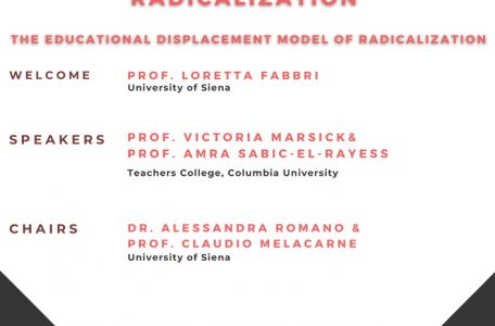 """Webinar """"Transformative Learning and Radicalization. The Educational Displacement Model of Radicalization"""" - 20 maggio - Locandina"""