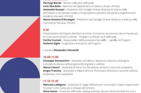 """Convegno """"Fare rete e sviluppare il senso di comunità tra imprenditorialità e formazione"""" - 27 maggio - Locandina"""