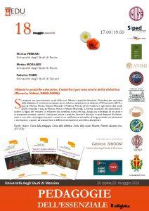 """Presentazione volume """"Maestri e pratiche educative. Contributi per una storia della didattica"""" - 18 maggio - Locandina"""