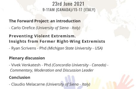 """Webinar """"Preventing Violent Extremism. Insights from Former Right-Wing Extremists"""" - 23 giugno - Locandina"""
