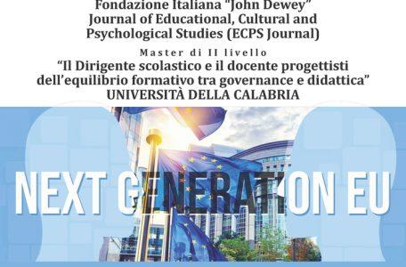"""Webinar """"Next Generation Eu. La scuola che verrà. Modelli educativi a confronto. Per una scuola inclusiva di alta qualità"""" - 2 luglio - Locandina"""