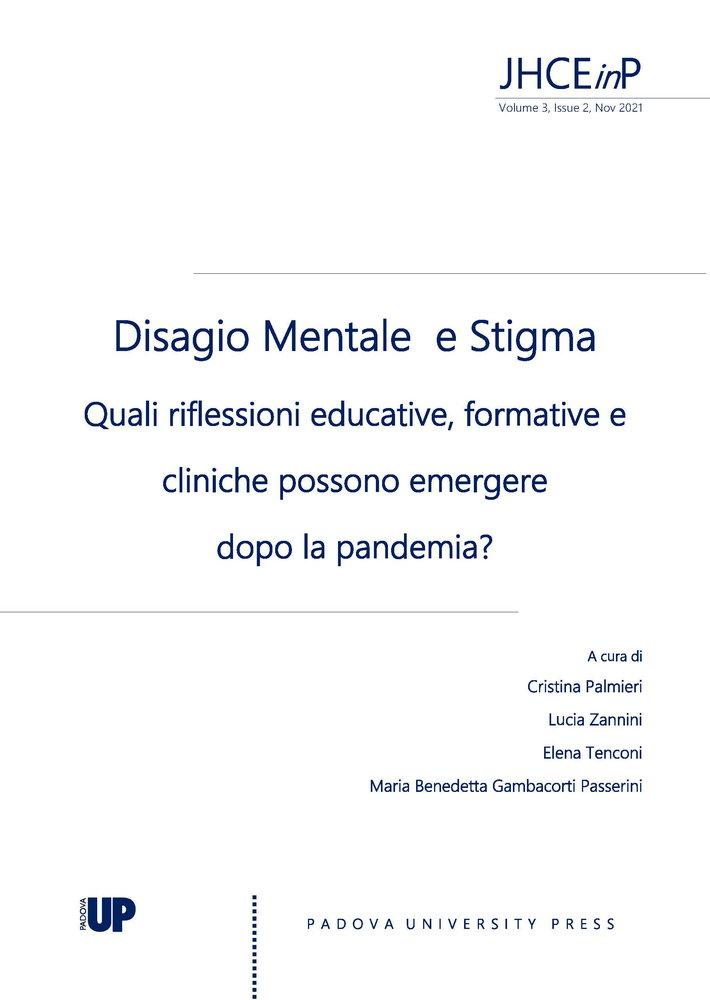 """Call for papers rivista """"Health Care Education in Practice"""" sul tema """"Disagio Mentale e Stigma. Quali riflessioni educative, formative e cliniche possono emergere dopo la pandemia?"""" - Copertina"""