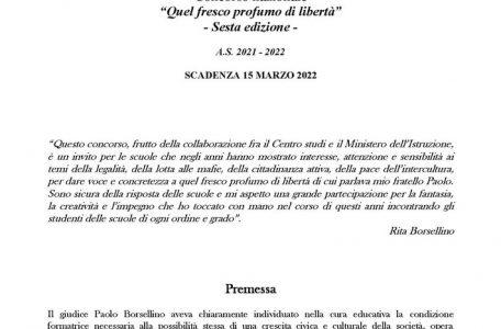 """2021-07-20 - VI Concorso """"Quel fresco profumo di libertà"""" - Bando"""