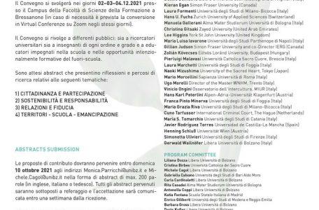 """Convegno Internazionale """"Educazione Territori Natura. Percorsi di cittadinanza a partire dalla scuola"""" - 2-4 dicembre, Bressanone"""